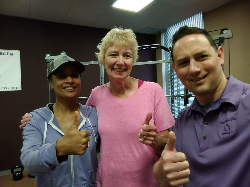 Cause and Effects Fitness Personal Training Nutrition Coaching Client Miriam Thumbs Up