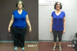 Lancaster PA Personal Training and Nutrition Coaching Client Amy